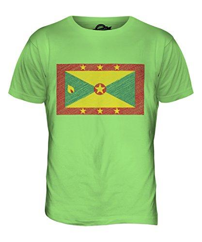 CandyMix Grenada Kritzelte Flagge Herren T Shirt Limettengrün