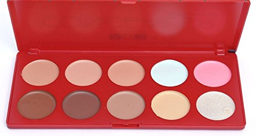 ADS Color Series Concealer Contour Highlighter Palette (10 Shades)