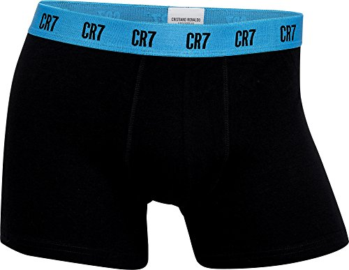 CR7 CRISTIANO RONALDO Herren enganliegende Boxershorts Basic Trunk 3-Pack - Special Edition Schwarz (2681)