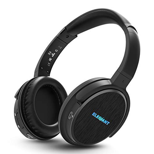 ELEGIANT Bluetooth Kopfhörer Over-Ear, Kopfhörer Over Ear Bluetooth mit Mokrofon Dual 40mm Treiber Stereo Wireless Headphones 16 Stunden 3.5mm AUX für Handy iPhone Samsung Huawei Mate Tablets PC TV
