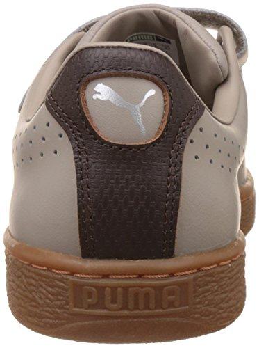 Puma Unisex-Erwachsene Basket Classic Strap Citi Low-Top Beige (vintage khaki-black coffee 02)