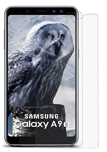 2X Samsung Galaxy A9 (2018) | Schutzfolie Matt Bildschirm Schutz [Anti-Reflex] Screen Protector Fingerprint Handy-Folie Matte Bildschirmschutz-Folie für Samsung Galaxy A9 2018 Bildschirmfolie