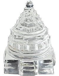 Gemstone Mart Original Natural Crystal/Sphatik Shree Yantra (250-300 Gram)
