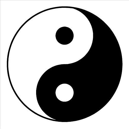 zqyjhkou Yin Yang Symbol Ying-Yang Wandkunst Raum Aufkleber Vinyl Aufkleber Vinyl Bewegliche Wandaufkleber Für Wohnzimmer Wohnkultur 87x87 cm