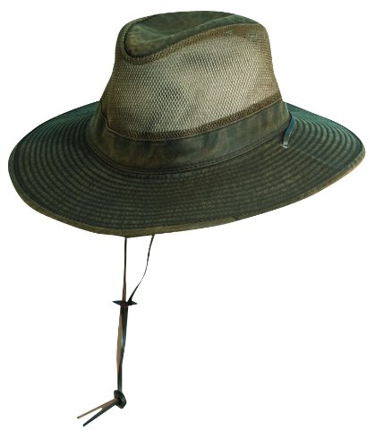 Dorfman Pacific Hats Herren UV Hüte, Brown, 58 cm, MC152-BRN3 (Dorfman Pacific Hut Baumwolle)