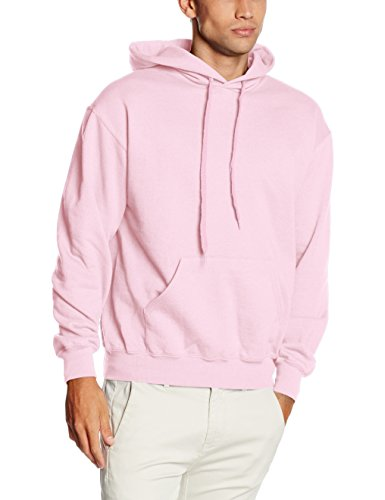 Fruit of the Loom 62-208-0 - Sweat-shirt à capuche - Hommes - Pink (Light Pink) - Taille: L