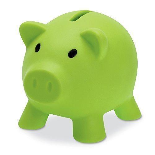 eBuyGB 1278548Piggy Bank–Spardose zum Speichern Münzen und Cash FUN Geschenk Kunststoff Neuheit Pig Safe (grün)