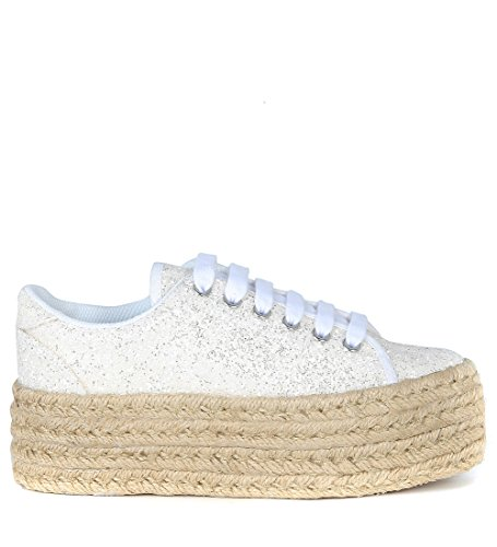 Basket basse JC Play by Jeffrey Campbell Zomg en glitter blanc