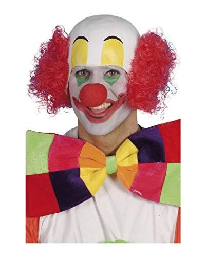 Horror-Shop Clowns Perücke mit Halbglatze und ()