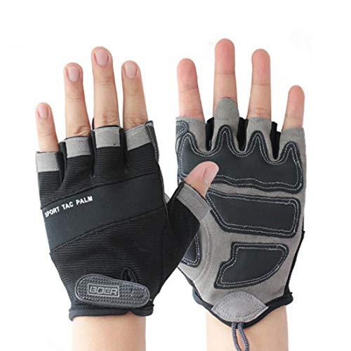 ZMJY Fitnesshandschuhe für Gewichtheben, Reiten - Schwarze Trainingshandschuhe mit Handgelenkstütze und vollem Handballenschutz für Männer und Frauen (M, L, XL),M