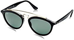 Ray Ban Mirrored Round Womens Sunglasses - (0RB4257|50|Green lens)