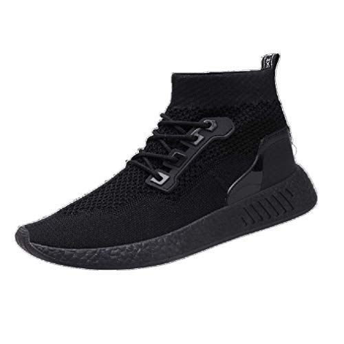 Baskets FantaisieZ Chaussures de Sport de Course à Semelle Souple Chaussures de Gym Chaussettes Chaussures pour Hommes Garçons Snakers à Semelle Souple à Dessus Haut