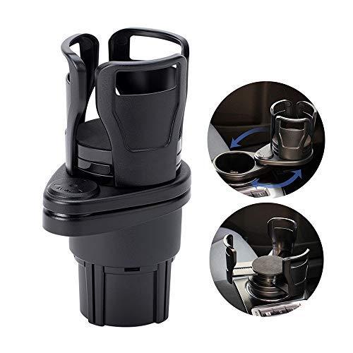UMISKY Auto Getränkehalter, Multifunktion 2 in 1 Kfz-Getränkehalterung Becherhalter Expander Halter für Trinken Flaschen 17-20 Unzen Kaffeetasse bis zu 5,9