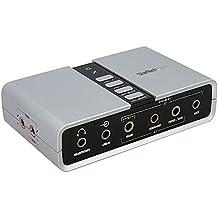 StarTech.com - Tarjeta de sonido (16 Bit, 7.1, USB, 100 g, 6 cm, 1 cm)