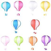 10pcs 12 pulgada (farolillo globo aerostático Linternas de papel plegado faroles de boda decoración fiesta