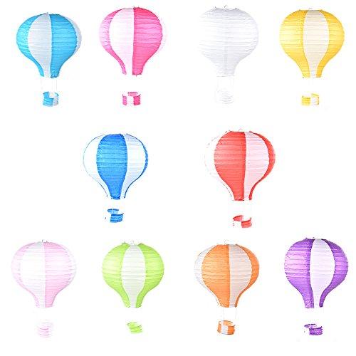 sundlight 100/Set Rainbow Faltbare Hot Air Ballon Papier Laterne Geburtstag Party Hochzeit Dekoration 30,5cm