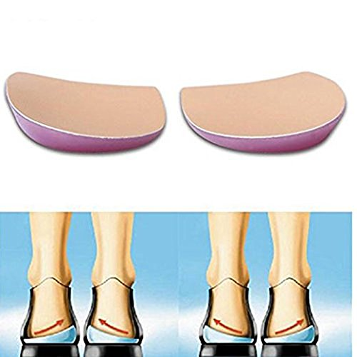 MQ O/X type Leg Orthopedic Insole(2Pairs) Soft Gel Feet Corrective Pads,Size for Women/Men