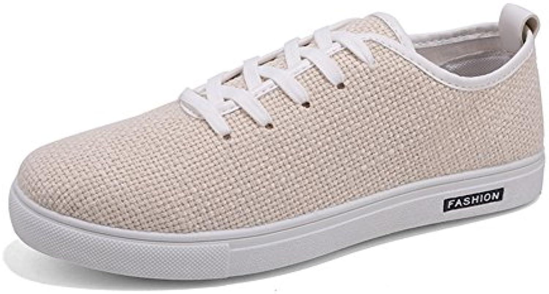 XUE Herrenschuhe Leinen Fruumlhling Sommer Breathable Driving Shoes Deck Schuhe Komfort Schnuumlrschuh fuumlr Casual Outdoor Persönlichkeit