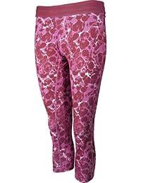 More Mile Printed Ladies Running 3/4 Capri Tights - Pink
