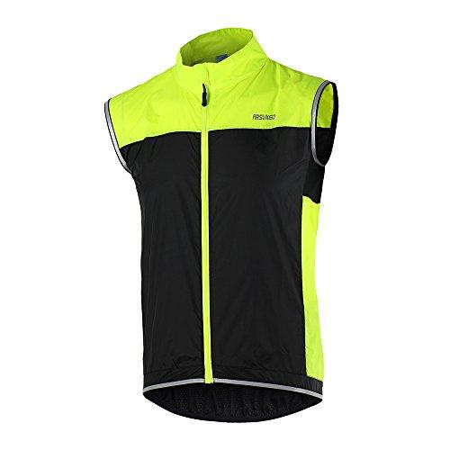 Lixada Gilet Da Ciclismo Ultrasottile Leggera Senza Maniche Cappotto Giacca in Esecuzione Biciclette Gilet Antivento, Tg EU S/ ASIA M