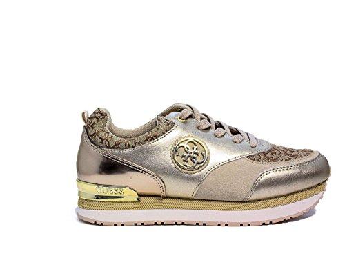 Guess Sneaker Damen Rimma Steigen Cm 5 Logo Beige_40 (Flats Schuhe Guess)