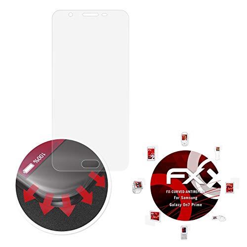 atFolix Schutzfolie passend für Samsung Galaxy On7 Prime Folie, entspiegelnde & Flexible FX Bildschirmschutzfolie (3X)