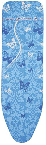 Leifheit 72264 Air Board Thermo Reflect Universal Vs Bügeltischbezug, Stoff, Butterflies blau, 140 x 45 x 1 cm
