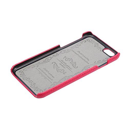 Wkae Case & Cover Pour iPhone 6 Plus & 6s plus Retour Housse Litchi Texture vachette cuir ( Color : Magenta ) Magenta