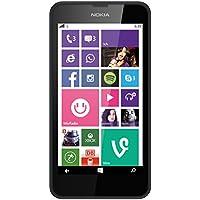 Nokia Lumia 635 Smartphone débloqué 4G (Ecran : 4,5 pouces 8 Go Simple SIM Windows Phone) Noir