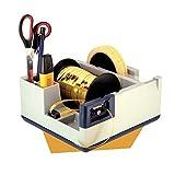Dispenser B22 da scrivania per Nastro Adesivo e Nastro confezioni regalo con portapenne e portaoggetti