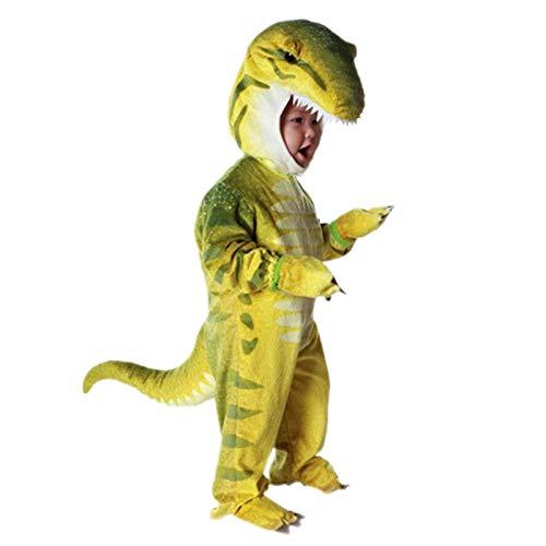 RNGNBKLS Kinder Kostüm Dinosaurier Overall Ganzkörper Spiele Cosplay Party Supplies,B-105-110cm