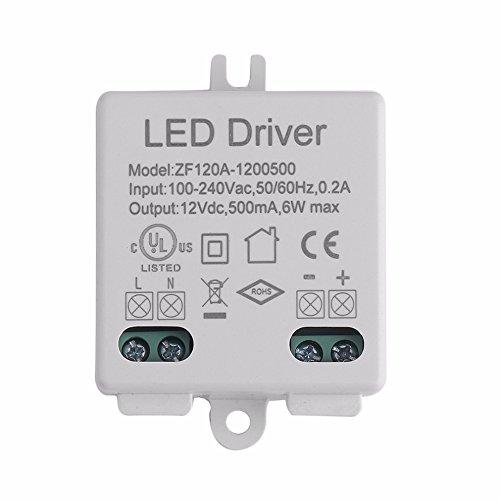 LED-Treiber Spannungsregler AC DC Adapter LED-Treiber 100-240V AC 50/60Hz zu 12V DC 6W
