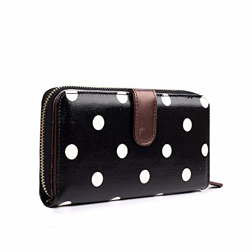 Miss Lulu , Cabas pour femme Polka Dots Purse Black