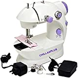 CHILLAXPLUS Portable 4 in 1 Mini Sewing Machine with Adapter and Foot Pedal