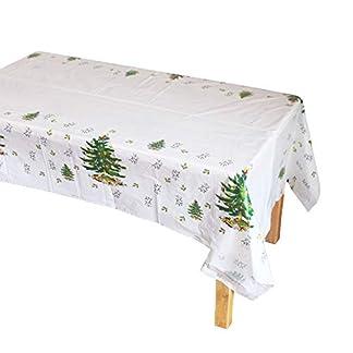Westeng Mantel de Plastico Impermeable Fiesta de Navidad Mantel de Mesa Rectangular Antimanchas Manteles para Comedor Cocina Jardín para Decoración de Navidad