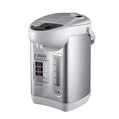 DSH Bouteille d'eau électrique Semi-Automatique PP + 304 en Acier Inoxydable 3L Blanc + Argent 28,7 * 21,4 * 33,8 cm bouilloires électriques