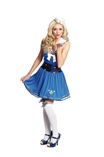 Preisvergleich Produktbild Karneval Damen Kostüm Pin Up Matrosin verkleiden an Fasching Gr 42