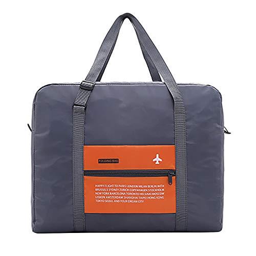 Reisetasche Calvinbi Damen Herren Große Kapazität Leichte Wasserdicht Gefaltet Gepäcktasche Handgepäck Aufbewahrungstasche Quilt-Tasche Verpflegungspaket Luggage Wasserdicht Nylon -