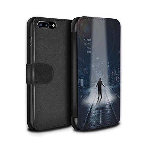 Stuff4 Coque/Etui/Housse Cuir PU Case/Cover pour Apple iPhone 7 Plus / Armageddon/Récolte Design / Extra-Terrestre Collection Enlèvement/Mystère