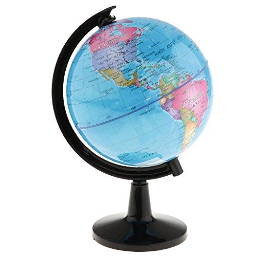 Blesiya Rotación del Globo Terráqueo del Mundo Mapa del Océano Niños Niños Juguetes Educativos 14 Cm - Azul, #2