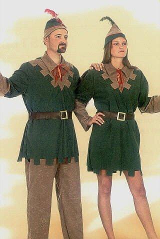 obin Hood Kostüm Damen sexy Damen-Kostüm Lady Marian Sherwood grün-braun inkl. Hut Größe 42 (Robin-kostüme Frauen)