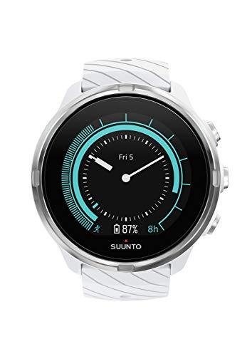 Suunto-9-Unisex-Multisport-GPS-Uhr-ber-25h-Batterielaufzeit-Wasserdicht-bis-100m-Herzfrequenzmessung-Farbdisplay-Mineralkristallglas-Wei-SS050143000