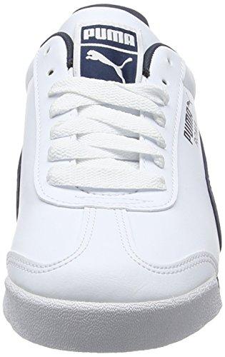 Puma Herren Roma Basic Sneakers Weiß (White-New Navy 12)