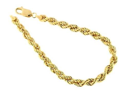 18 karat / 750 Gold Kordel Armband Gelbgold 4.40 mm. Breit (20) (20)