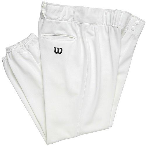 WILSON Jugend Poly Warp Knit Baseball Hose, Jungen, weiß -