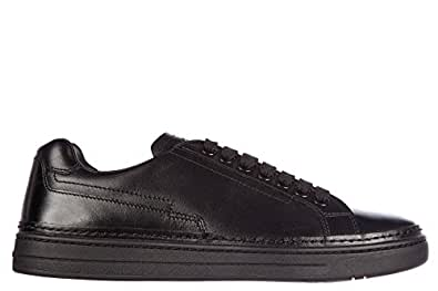 Prada scarpe sneakers uomo in pelle nuove nevada calf nero EU 39.5 4E2831 O64 F0002