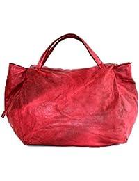 71b3977edb71e BZNA Bag Diana rot Italy Designer Weekender Damen Handtasche Schultertasche  Tasche Leder Shopper Neu
