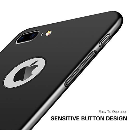 "Coque iPhone 7, Coque iPhone 8 / 7, POOPHUNS Coque pour iPhone 7 /8 Matière PC - 4,7"" - Noir - [Ultra Mince] [Ultra Léger] Anti-Rayures, Anti-dérapante pour Apple iPhone 7 (2016) et iPhone 8 (2017)"