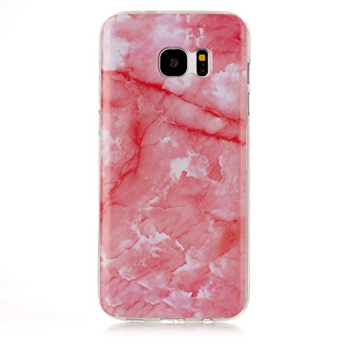 Für Samsung Galaxy S7 Edge Case Marbling Texture Soft TPU Cover Slim Ultra Thin Anti-Kratzer Schock Absorption schützende Rückseite Cover Shell ( Color : L ) J