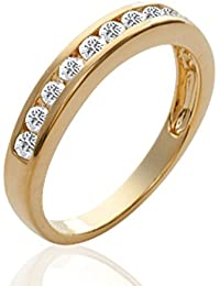 ISADY - Erin Gold - Women's Ring - 18ct yellow gold plated - Cubic Zirconia Clear